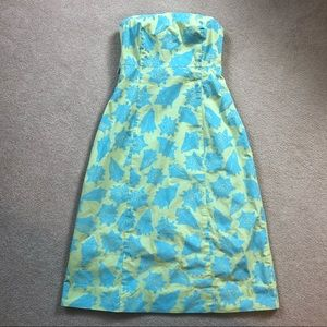 Lilly Pulitzer green & blue shell dress. Size 2.